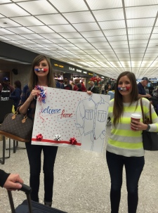 Being welcomed at the airport by two of my most favorite people.