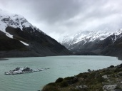Behind that gray is the largest mountain in NZ...you would never know.
