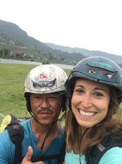 My paragliding partner extraordinaire